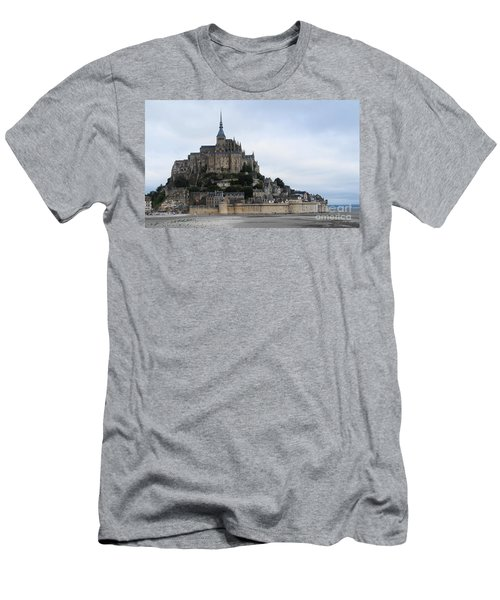 Mont St Michel Men's T-Shirt (Slim Fit) by Therese Alcorn