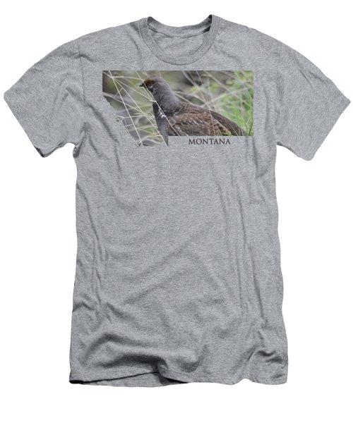 Montana-dusky Grouse Men's T-Shirt (Athletic Fit)