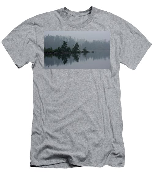 Morning Fog Over Cranberry Lake Men's T-Shirt (Athletic Fit)