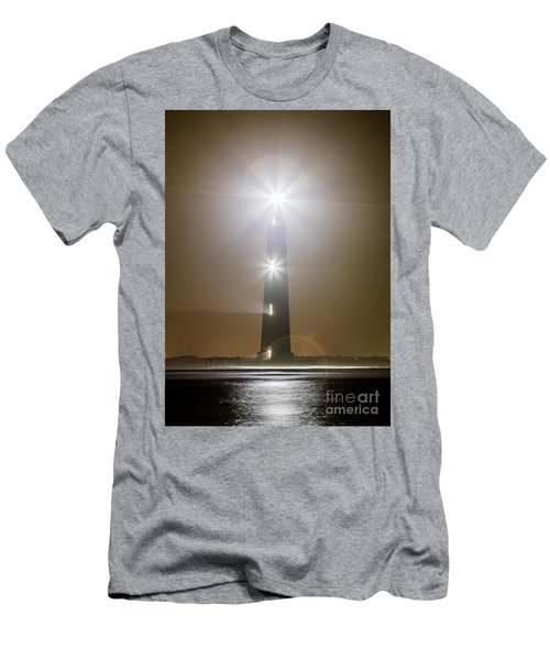 Morris Island Light House 140 Year Anniversary Lighting Men's T-Shirt (Athletic Fit)