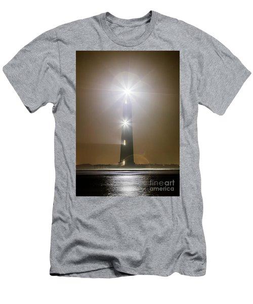 Morris Island Light House 140 Year Anniversary Lighting Men's T-Shirt (Athletic Fit)