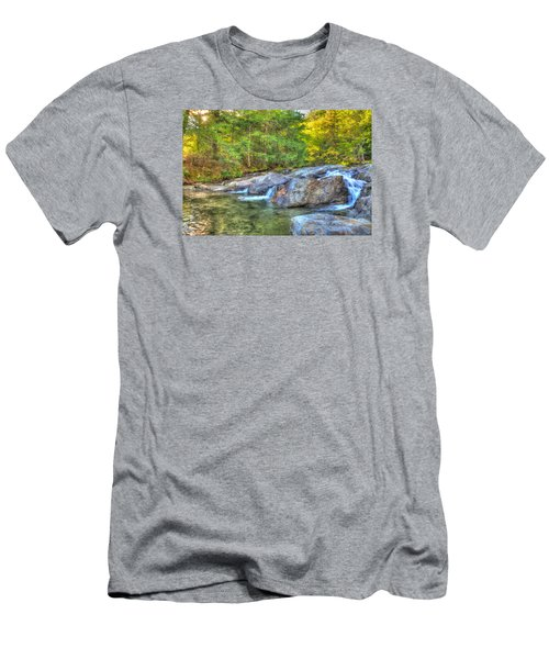 Mountain Stream Waterfalls Men's T-Shirt (Athletic Fit)