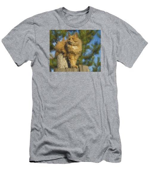 My Cat Men's T-Shirt (Slim Fit) by Vladimir Kholostykh