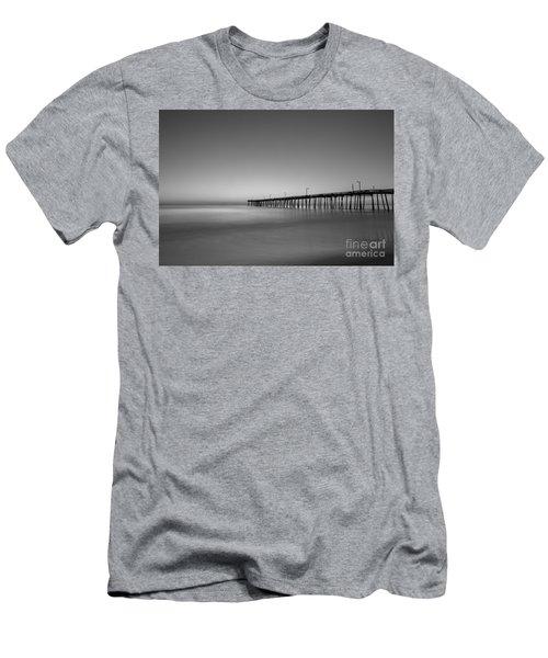Nags Head Fishing Pier Sunrise Men's T-Shirt (Slim Fit) by Michael Ver Sprill