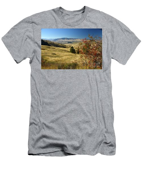 National Bison Range Men's T-Shirt (Slim Fit) by Cindy Murphy - NightVisions
