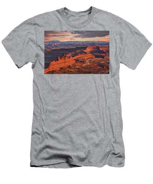 Needles Sunset From White Crack Men's T-Shirt (Athletic Fit)
