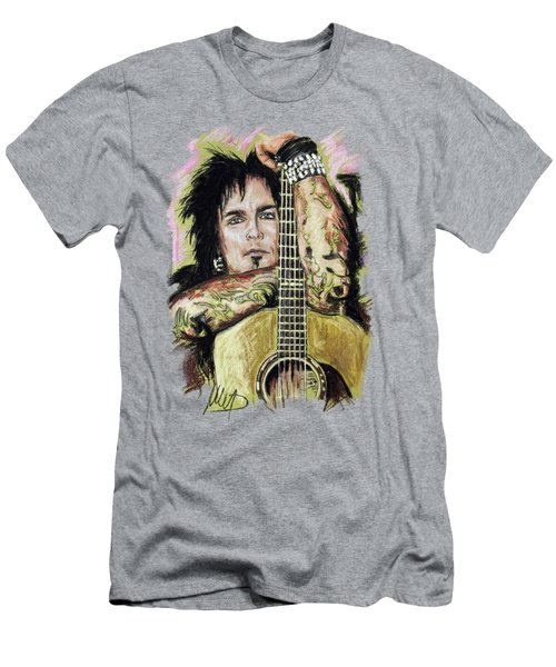 Nikki Sixx Men's T-Shirt (Slim Fit) by Melanie D