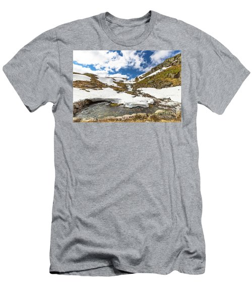 Norway Mountain Landscape Men's T-Shirt (Athletic Fit)