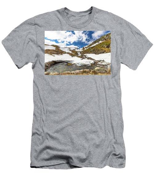 Norway Mountain Landscape Men's T-Shirt (Athletic Fit)