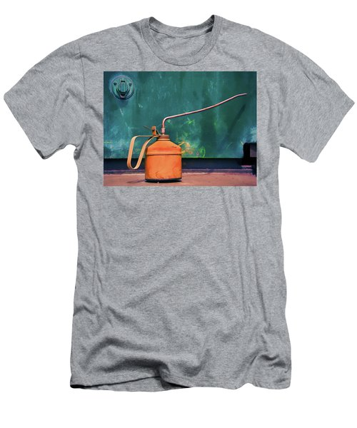 Oil Can On The Engine Men's T-Shirt (Slim Fit) by Gary Slawsky