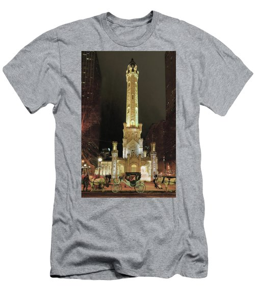 Old Chicago Water Tower Men's T-Shirt (Athletic Fit)