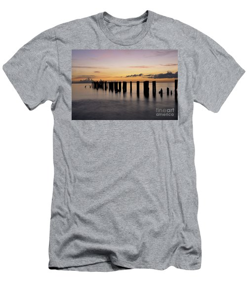 Men's T-Shirt (Slim Fit) featuring the photograph Old Naples Pier by Kelly Wade