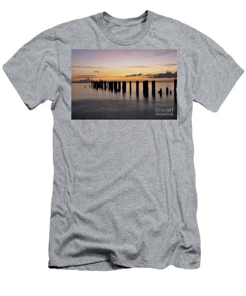 Old Naples Pier Men's T-Shirt (Athletic Fit)