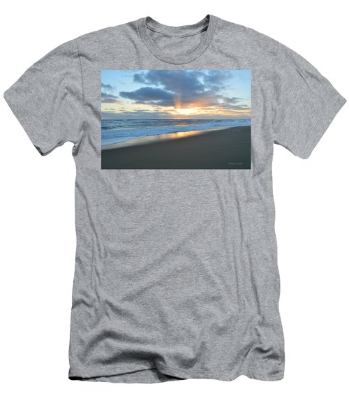 Men's T-Shirt (Athletic Fit) featuring the photograph Outer Banks Sunrise  by Barbara Ann Bell