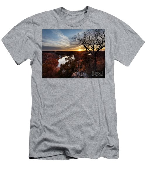 Men's T-Shirt (Slim Fit) featuring the photograph Ozark Sunset by Dennis Hedberg