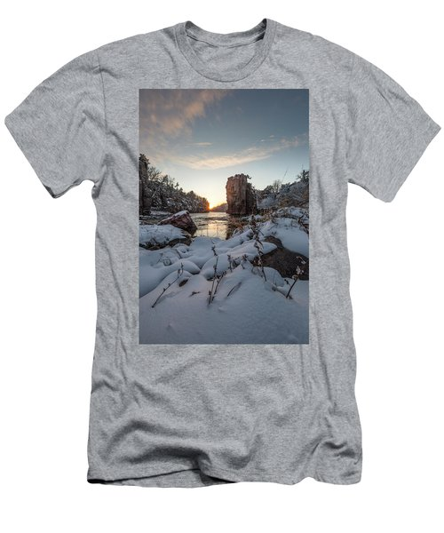 Men's T-Shirt (Slim Fit) featuring the photograph  Palisades First Snow by Aaron J Groen