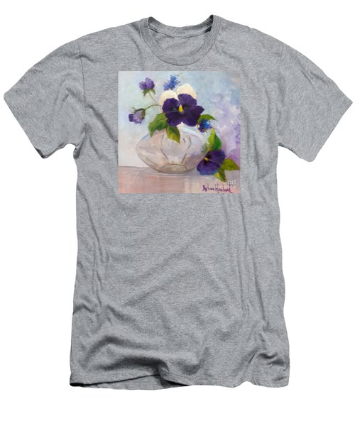 Pansies In Glass Men's T-Shirt (Slim Fit)