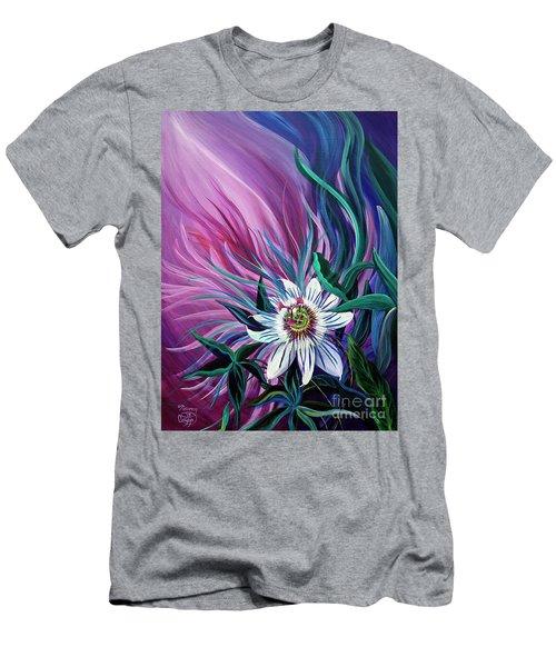 Passion Flower Men's T-Shirt (Slim Fit) by Nancy Cupp