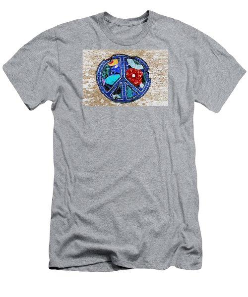 Men's T-Shirt (Slim Fit) featuring the photograph Peace  by Juls Adams