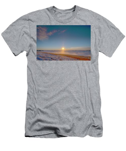 Prairie Winter Sunset Men's T-Shirt (Athletic Fit)
