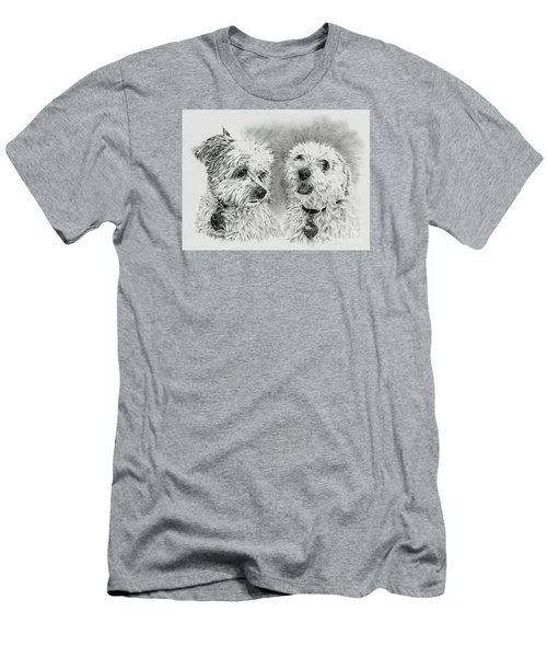 Men's T-Shirt (Slim Fit) featuring the drawing Precious Ones  by Terri Mills