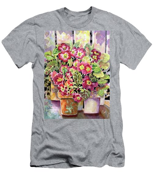 Primroses In Pots Men's T-Shirt (Athletic Fit)