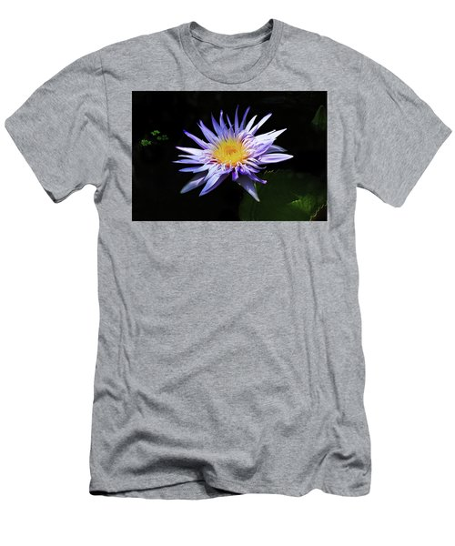 Purple Water Lily Men's T-Shirt (Athletic Fit)