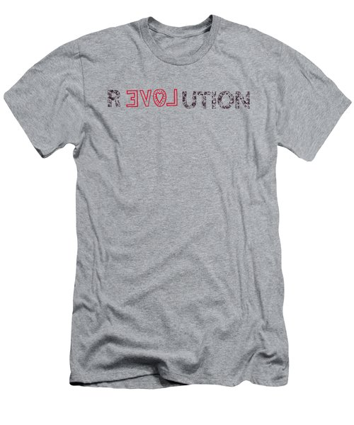 Men's T-Shirt (Slim Fit) featuring the drawing Revolution by Bill Cannon