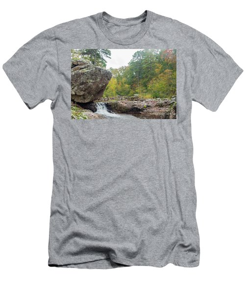 Men's T-Shirt (Slim Fit) featuring the photograph Rocky Creek Shut-ins by Julie Clements