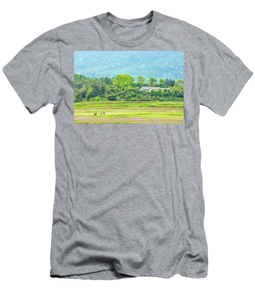 Rural Scenery In Spring Men's T-Shirt (Athletic Fit)