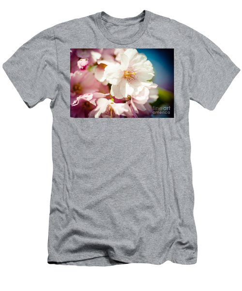 Sakura Blossoms Pink Cherry Artmif.lv Men's T-Shirt (Athletic Fit)