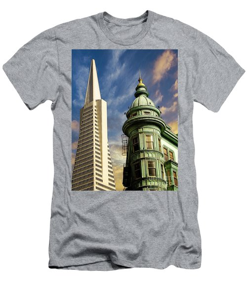 San Francisco Then And Now Men's T-Shirt (Athletic Fit)