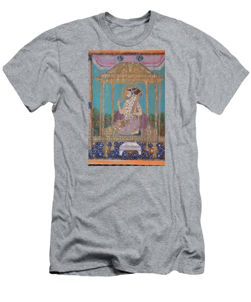 Men's T-Shirt (Slim Fit) featuring the painting Shah Jahan by Vikram Singh