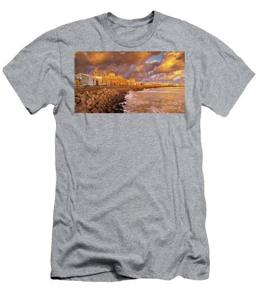 Skyline From Campo Del Sur Cadiz Spain Men's T-Shirt (Athletic Fit)
