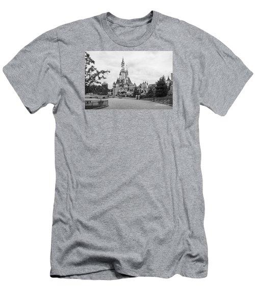 Sleeping Beauty Castle Men's T-Shirt (Slim Fit) by Roger Lighterness