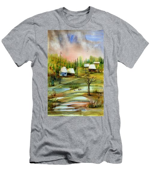 Sleepy Village Men's T-Shirt (Athletic Fit)