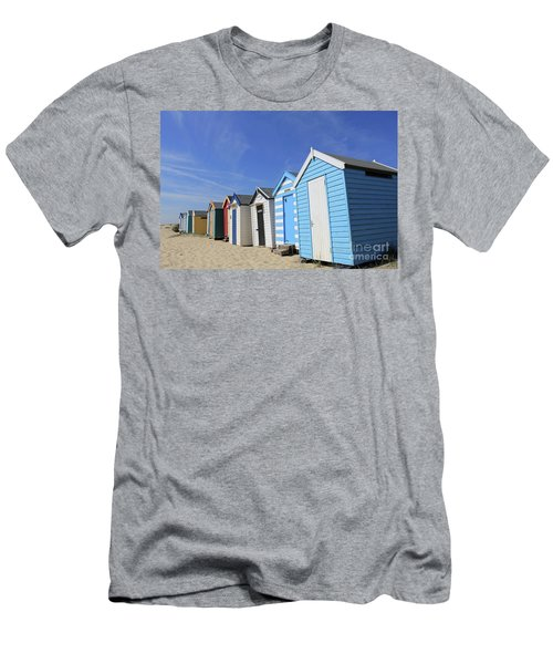 Southwold Beach Huts Men's T-Shirt (Athletic Fit)