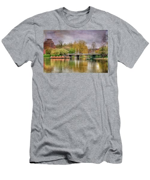 Men's T-Shirt (Slim Fit) featuring the photograph Spring In The Boston Public Garden by Joann Vitali