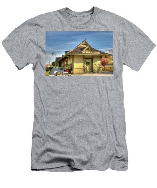 St. Charles Depot Men's T-Shirt (Slim Fit) by Steve Stuller