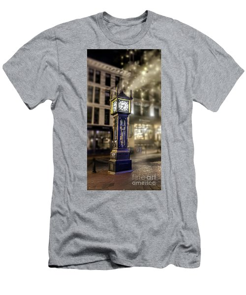 Men's T-Shirt (Slim Fit) featuring the photograph Steam Clock by Jim  Hatch
