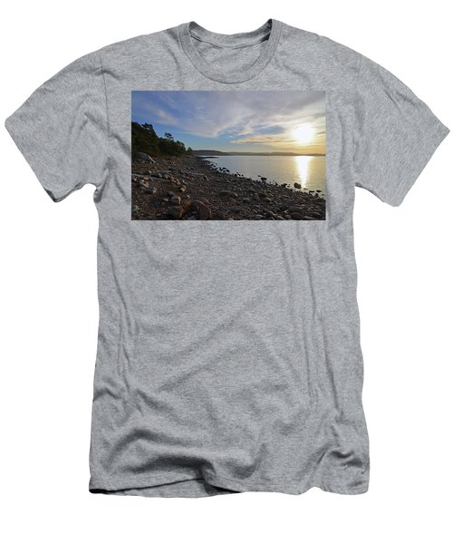 Stone Beach Men's T-Shirt (Athletic Fit)