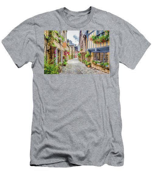 Streets Of Dinan Men's T-Shirt (Slim Fit) by JR Photography