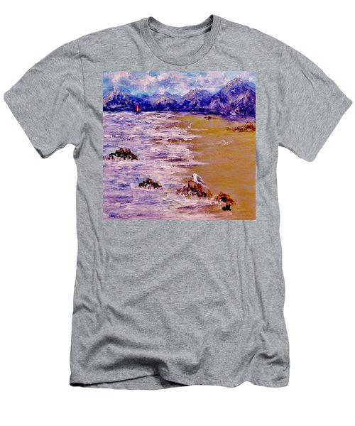 Men's T-Shirt (Slim Fit) featuring the painting Summer Whispers.. by Cristina Mihailescu
