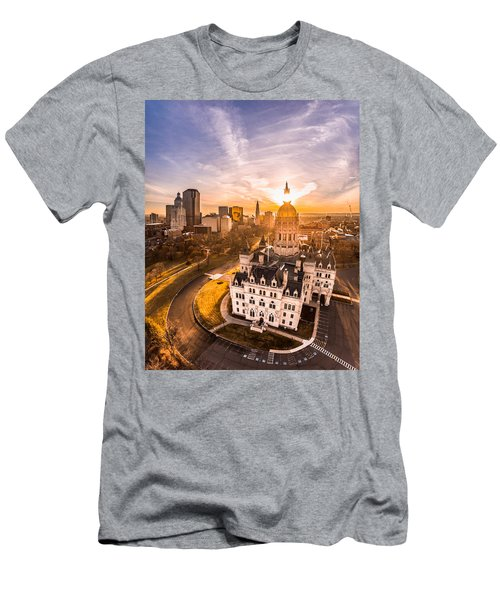Men's T-Shirt (Slim Fit) featuring the photograph Sunrise In Hartford, Connecticut by Petr Hejl
