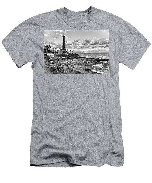 Men's T-Shirt (Athletic Fit) featuring the photograph Sunset At Chipiona Lighthouse Cadiz Spain by Pablo Avanzini