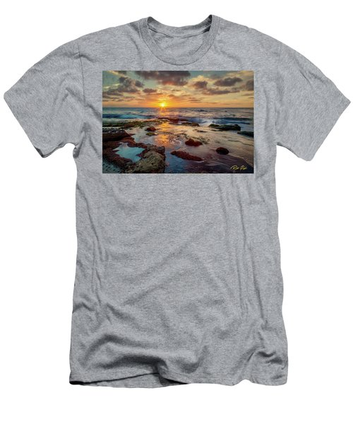 Men's T-Shirt (Athletic Fit) featuring the photograph Sunset At La Jolla  by Rikk Flohr