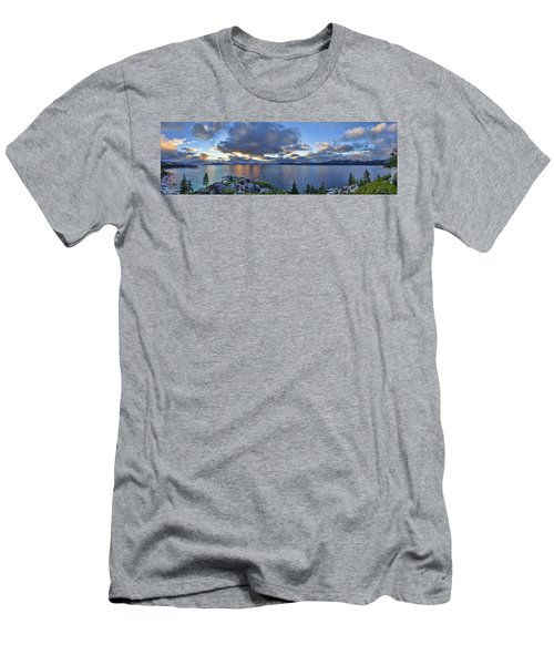 Tahoe Sunset Panorama Men's T-Shirt (Athletic Fit)