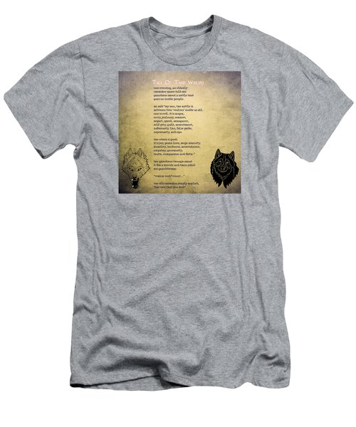 Tale Of Two Wolves - Art Of Stories Men's T-Shirt (Slim Fit) by Celestial Images