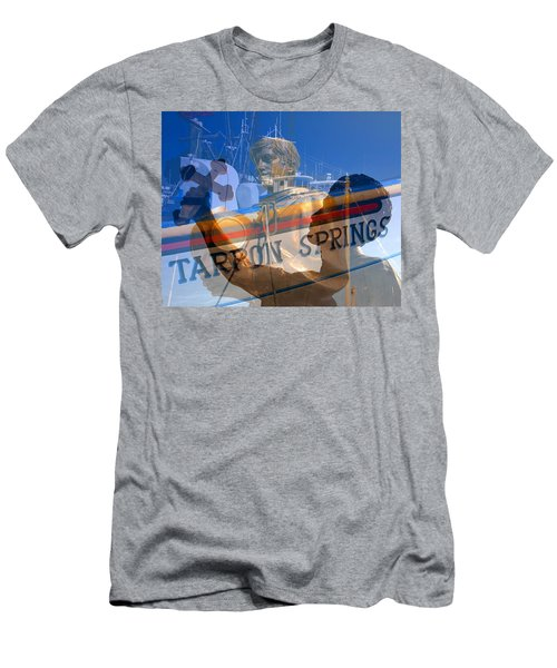 Men's T-Shirt (Slim Fit) featuring the photograph Tarpon Springs Florida Mash Up by David Lee Thompson