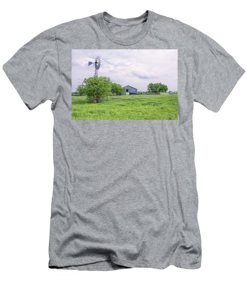 Texas Windmill Men's T-Shirt (Athletic Fit)